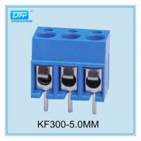 供应欧式PCB接线端子 铜方块 KF300V 间距5.00mm圆孔 直针 蓝色