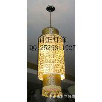 供应厂家定制中式羊皮吊灯 酒店大堂灯餐厅宴会厅包厢圆形中式灯具
