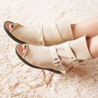 2013春夏季新款女士罗马风鱼嘴靴 内增高短靴子 金属网状低跟凉鞋