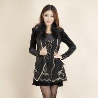 新款 【黎嘉人】韩国进口品牌女装金丝绒蕾丝网打底衫 女装打底衫