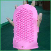 厂家直销 韩国美容健身搓澡用天然乳胶沐浴刷 双面硅胶按摩手套
