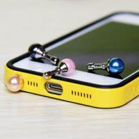 珍珠防尘塞 3.5mm手机防尘苹果三星小米通用可爱防尘塞批发