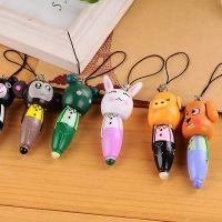木制卡通动物随身笔木制短笔/手机挂件/卡通木质圆珠笔