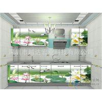 怎么在玻璃上喷绘立体图案 背景墙彩色上色设备 瓷砖万能印花机器