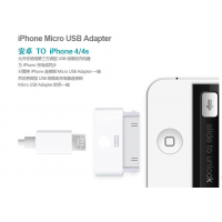 供应iPhone Micro USB Adapter 原装苹果转 micro usb转换头