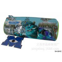 【生产】迪士尼怪兽大学防水圆筒笔袋  PVC文具包