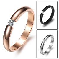 速卖通外贸畅销戒指 首饰 电镀玫瑰金 小巧精致钛钢女士戒指GJ373