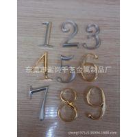 五金数字牌 东莞金属制品厂根据客户要求订制金属字母标牌 门牌