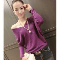 5553#秋装新款女士羊绒衫V领韩版时尚长袖毛衣针织衫打底衫女