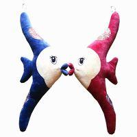 厂家现货批发创意毛绒玩具亲吻鱼公仔 相亲相爱婚庆用品摆件挂件