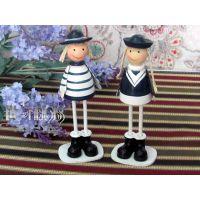 地中海装饰摆件 小海军站姿款式 电表箱上的装饰娃娃 海洋风礼物