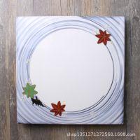 日本进口怀石料理手绘描金陶瓷平盘寿司盘刺身盘前菜盘日式餐具