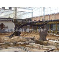 吉林水泥仿木塑树 施工 仿木花架制作 仿木亭子加工