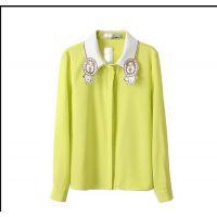 2014秋装新款衬衣女长袖小清新上衣衬衫 打底衫冬潮A2-2483
