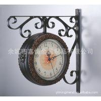 精品热销工艺挂钟 铁艺钟工艺钟 复古铁艺钟