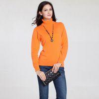 新款秋冬高领毛衣女套头加厚修身羊毛衫韩版纯色打底衫紧身羊绒衫