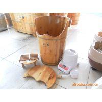 大量供应特色高实木足浴桶,熏蒸桶(黄棕色),浴桶 泡脚桶,木桶