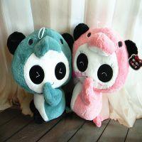 正版抱抱宝贝创意毛绒玩具公仔 海豚变熊猫 情侣款生日礼物SM198