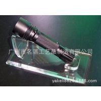 2014年手电筒展示架新品 有机玻璃强光手机托架 斜摆式 迷你支架