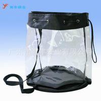 供应厂家定制透明拉绳PVC袋 环保PVC袋 服装购物手提PVC袋