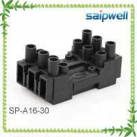 赛普 SP-A16-30矩形阻燃铜端子 灯具接线端子 公母插拔式端子
