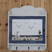 包邮 地中海装饰木质挂件壁饰电闸箱遮挡画箱手工电表箱带挂钩