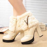 女鞋批发 春秋新款性感时尚低筒靴 复古百搭马丁靴 短靴 女靴子