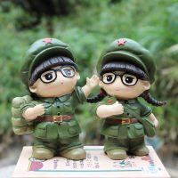 红军小人文艺小兵公仔树脂储蓄罐纯真年代情侣居家摆设情人节礼物