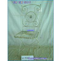 滢发 铁艺座椅 田园 高档休闲座椅 花园 白色 方形餐椅 可定做。