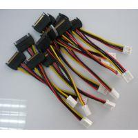 供应小4PIN转SATA电源线 小4PIN D口转15针SATA公头电源转接线