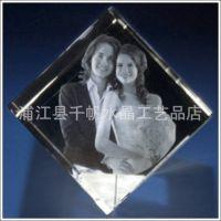 【精美】水晶照片内雕 diy设计 水晶内雕 水晶纪念品定制