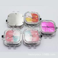 防水运动表头 夜光石英表头 透明塑胶表头订制