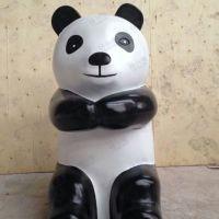 供应熊猫雕塑动物雕塑 商场道具订做 大型雕塑