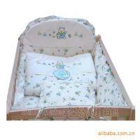 供应1至1.1米童床婴儿床上用品 七件套 脱套全棉套件