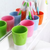 喝水杯多用糖果色洗漱杯漱口杯塑料牙刷杯子B90g