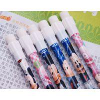 2012新款联众迪士尼米奇米妮6支装大皮头铅笔学生文具