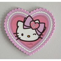 上海工厂 可爱心型杯垫 PVC软胶杯垫 零售批发 Hello kitty 杯垫