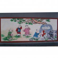 天津是幼儿园国学壁画传统文化壁画顺帝美术