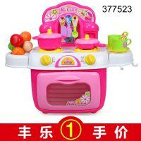 377523 儿童灯光音乐餐具桶 收纳功能 迷你过家家 玩具批发