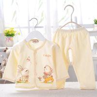 2015宝宝春装  纯棉新款童套装 可爱新生儿婴儿服装厂家直销