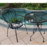 滢发田园铁艺座椅 时尚休闲餐桌椅  创意镂空舒适靠背椅