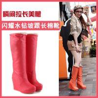 供应批发采购雪地靴女靴 高筒靴 长筒靴子2014冬季坡跟马丁靴