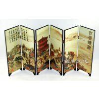 大量供应漆器小屏风 黄鹤楼 定制商务礼品 中国特色礼品 木质屏风