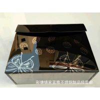 厂家直销  K30黑蝴蝶方形抽纸盒/彩钢纸盒/不锈钢高档纸巾盒