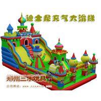 供应新版米老鼠充气大滑梯蹦蹦床三乐充气城堡
