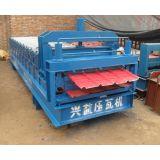 840型琉璃压瓦机彩钢仿古琉璃瓦设备沧州兴益供应