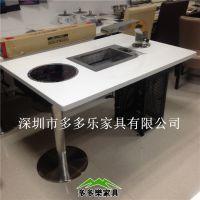 烧烤火锅一体桌在哪里有 优质石英石火锅烧烤桌