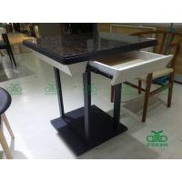 西餐厅餐桌 茶餐厅餐桌椅厂家批发定制 带抽屉餐桌定制