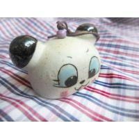 【低价批发】手工制作景德镇创意陶瓷挂件分体式大头猫 小商品