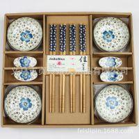 高档婚庆回礼 节日活动用品 陶瓷餐具碗筷碟礼盒套装礼品厂家批发